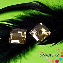 Korálky - CHESSBOARD 20 SWAROVSKI ® ELEMENTS Crystal GSHA F - 1978471
