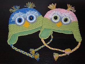 Detské čiapky - Sovičkové čiapočky - 1979349