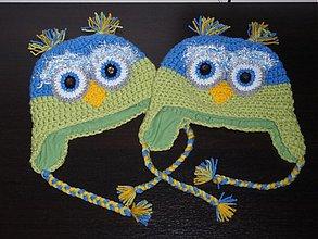Detské čiapky - Sovičkové čiapočky - 1979358