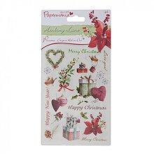 Papier - 2 archy Vianočné tetovačky na papier, glitrované Henbury Lane - 1993672