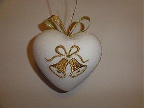Dekorácie - Srdce so zvončekmi - 1996547
