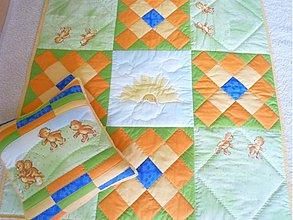 Úžitkový textil - Deka medvede na lúke 2 - 1999334