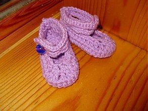 Topánočky - Fialkové balerínky mini - akcia - 2002579
