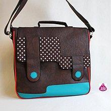 Veľké tašky - Línija - tyrkys a bodka - 2002691