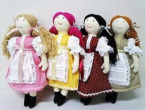 Hračky - bábika Mara /malá  wintage / tvár vyšívaná - farebnosť na želanie - 2002918