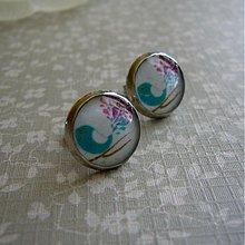 Náušnice - tyrkysový vtáčik... - 2003088