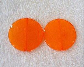 Korálky - MILK plast placka 30mm-1ks (orange) - 2007507