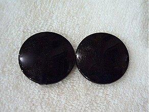Korálky - MILK plast placka 30mm-1ks (čierna) - 2007512