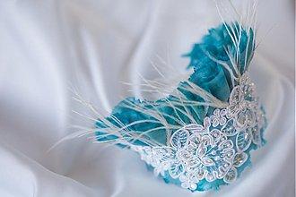 Ozdoby do vlasov - Tyrkysová... - 2012171