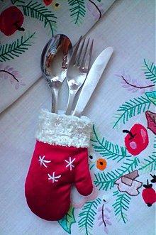 Úžitkový textil - rukavičky k sviatočnému stolu... - 2012630
