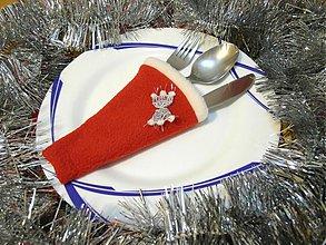 Úžitkový textil - Vianoce - obal na príbor s ozdobou - 2016439