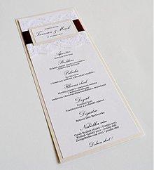 Papiernictvo - SVADOBNÉ menu CHOCO I. - 2033643