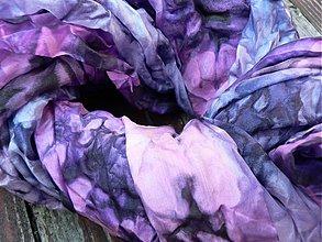 Šály - Šál velký borůvkový s fialkovým nádechem, 180x90cm - 2033979