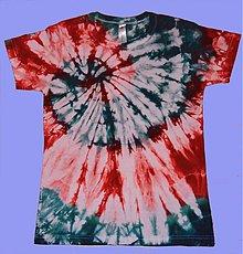 Tričká - Červeno-zelená špirála - 2039907