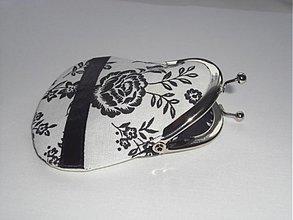 Peňaženky - Čierno-biela-mini-peňaženka - 2045924