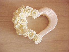 Dekorácie - svadobné srdce - 2049725