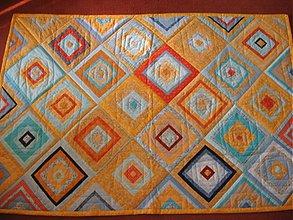 Úžitkový textil - Patchwork deka, prikrývka - 205029