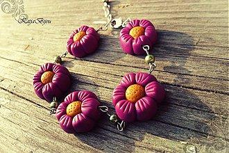 Náramky - Little Pink Flowers - náramok :) - 2050321