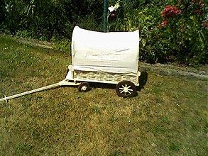 Dekorácie - kočovný voz s plachtov- pre malých cestovateľov - 2054501