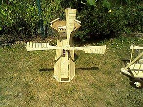 Dekorácie - veterný mlyn-dekorácia do záhrady - 2054505