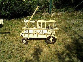 Dekorácie - drevený voz - 2054527