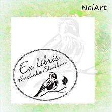 Drobnosti - Razítko EX LIBRIS vtáčik - 2054837