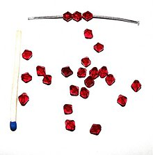 Korálky - 0171 Červené cínovky (slniečka) 5 mm, 10 ks - 205532