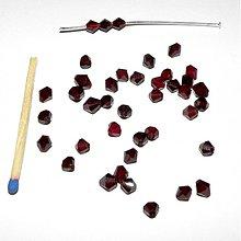 Korálky - 0172 Tmavočervené cínovky (slniečka) 4 mm, 10 ks - 205535