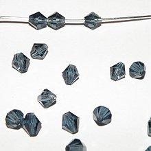 Korálky - 0174 Šedo-modré cínovky (slniečka) 5,3 mm, 10 ks - 205549