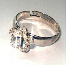 Prstene - Swarovski kvietky Crystal - prsteň - 2057440