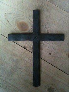 Dekorácie - jednoduchý krížik - 2058871