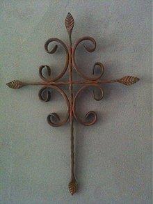 Dekorácie - zdobený krížik - 2058893