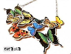 Náhrdelníky - Zbierka motýľov - 2059744