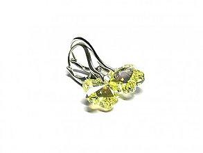 Náušnice - Swarovski AB yellow - 2060238