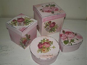 Krabičky - Sada romantických krabičiek - 2061293