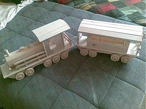 Hračky - veľký vlak z vagónom - 2066626
