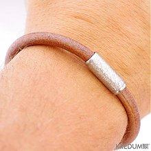 Šperky - Samuel - hnědý - pánský kožený náramek - 2066951