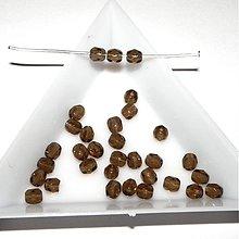 Korálky - 0189 Ohňovky - hnedé - 4 mm, 10 ks - 206770