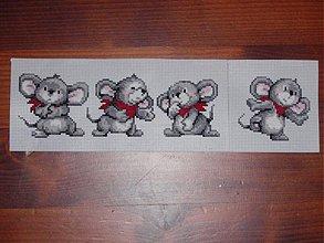 Hračky - Vyšívaný myšiaci - 2070212