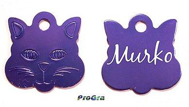 Pre zvieratká - známka pre mačičku - rozne farby - 2075829