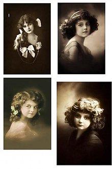 Papier - Vintage nažehlovacie obrázky 8 - deti - 2080534