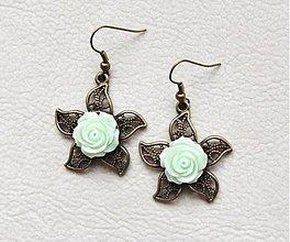 Náušnice - zelené kviezdičky - 2080600