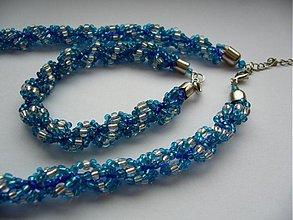 Sady šperkov - Sada MODRÁ VLNA - 2082564