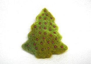 Odznaky/Brošne - Vianočný stromček - 2086263