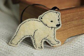 Odznaky/Brošne - Mláďa polárneho medveďa - 2087987
