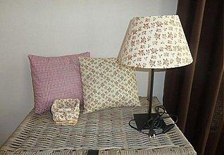 Úžitkový textil - lampa vankusiky a kosik - 2088718