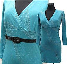 Šaty - Šaty s malými striebornými puntíkmi - 2092575