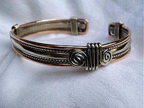 Šperky - Rastislav - náramok - meď a alpaka - 2094358