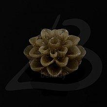Komponenty - KAB1422, KABOŠON Chryzantéma 15mm (HNEDÁ /1ks) - 2094569