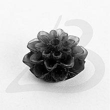 Komponenty - KAB1422, KABOŠON Chryzantéma 15mm (ČIERNA /1ks) - 2094596